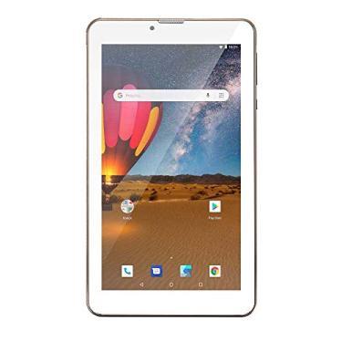 Imagem de Tablet, M7 3G Plus Dual Chip Quad Core 1 GB de RAM Memória 16 GB Tela 7 Polegadas, Multilaser, NB306, Dourado