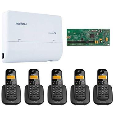 Kit PABX Intelbras 2X4 x5 TS 3110 Dect Sem Fio Bina Kit 11