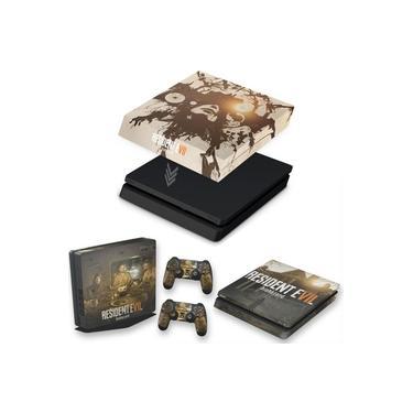 Capa Anti Poeira e Skin para PS4 Slim - Resident Evil 7: Biohazard