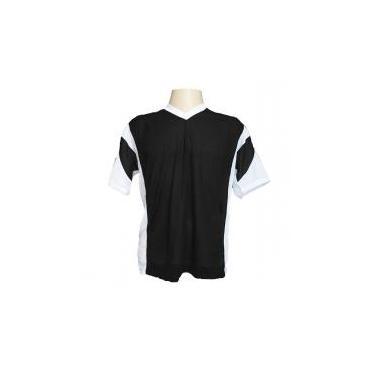 Jogo de Camisa Promocional com 18 Peças Numeradas Modelo Attack Preto Branco  - Frete Grátis Brasil - Kanga sport 1a05d93fb763b