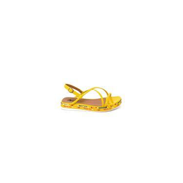 Imagem de Sandália Feminina linda Modelo Verão cor Amarelo Pólen - ca