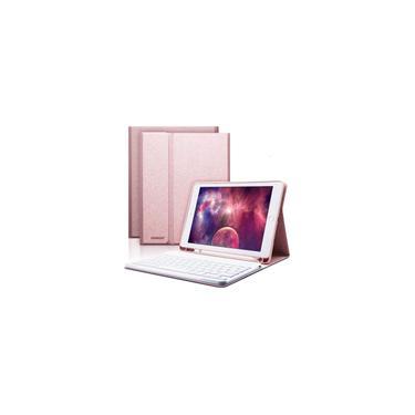 Imagem de IPad Keyboard Case 9.7 para iPad 6ª Geração 2018 iPad 5ª Geração 2017 iPad Pro 9.7 iPad Air 2 Air 1 com Suporte lápis Bluetooth Wireless Detachable Keyboard 9.7 iPad Cover com Teclado