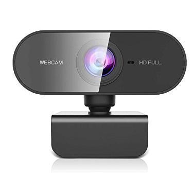 Imagem de Owfeel Webcam 1080P com microfone WebCam de Streaming para Desktop sem drive, em Full HD, Câmera de computador USB Plug and Play com foco automático rotativo de 360º para laptop/PC/Mac