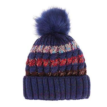 KESYOO Gorro Despojado Plus Veludo Inverno Gorro Simples Quente Protetor Frio, Verde escuro, tamanho �nico