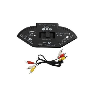 3-Input-Output 1 Audio Video AV Switcher Splitter para XBOX / DVD / PS2