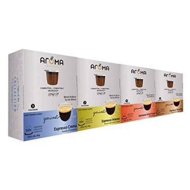 120 Cápsulas Para Nespresso - Kit Degustação Café - Cápsula Aroma