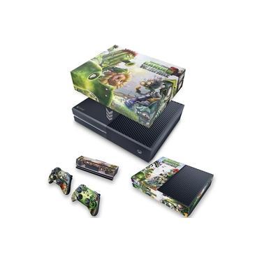Capa Anti Poeira e Skin para Xbox One Fat - Plants Vs Zombies Garden Warfare
