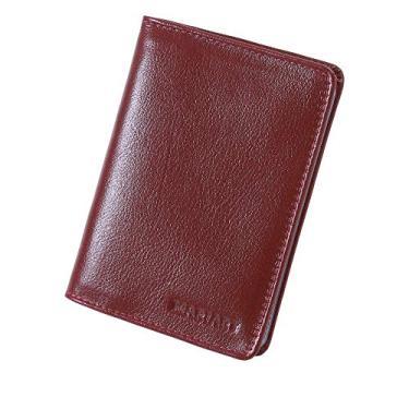 Carteira Masculina Couro legítimo Porta Cnh Documentos 70B (Vermelho)