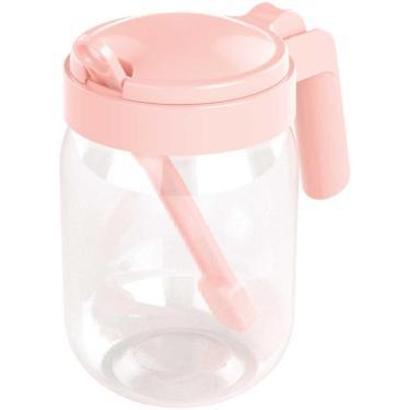 Açucareiro com colher 450mls com alça e tampa BPA Free
