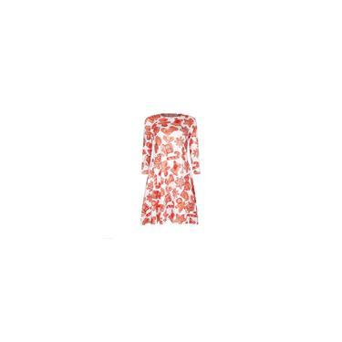 Vestido de tamanho livre outono manga sete pontas vestido t-shirt carimbo de natal