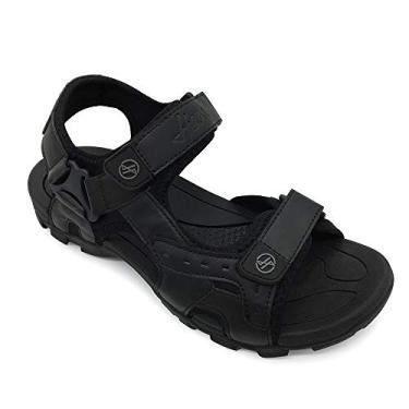 FUNKYMONKEY Sandálias esportivas masculinas esportivas com bico aberto para trilha e ao ar livre, Balck, 7