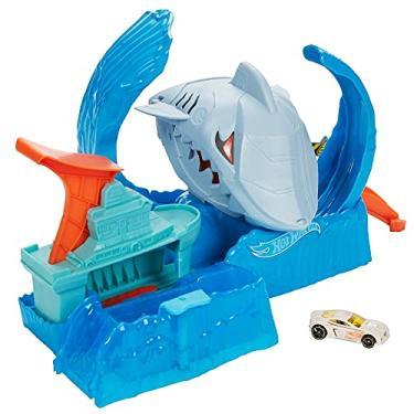 Imagem de Pista Hot Wheels City Robô Tubarão, Multicolorido, GJL12, Mattel