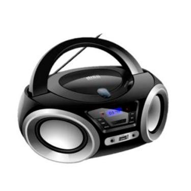 Rádio Portátil Lenoxx Boombox Bluetooth Fm e CD Player - Preto