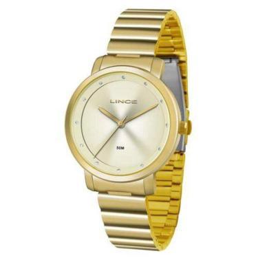 c1e79aaa6d8 Relógio de Pulso Aço Lux Golden