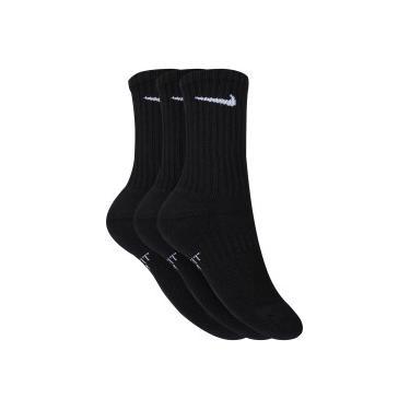 Kit de Meias Cano Alto Nike Swoosh com 3 Pares - Infantil - PRETO BRANCO 80ca28bd6d39a