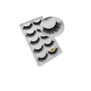 Imagem de Kit de Cílios Postiço Natural 3D Extenção Mink Pares G603