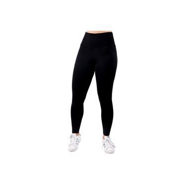 Imagem de Calça Legging Suplex Liso Cos Alto Fitness Academia Feminino Malhar Moda