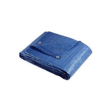 Lona Impermeável 8x4 M Plástica Azul Para Telhados Camping Barracas Forro Piscina