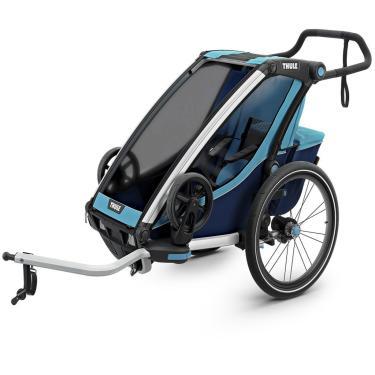 Bike Trailer p/ 1 ou 2 Bebês Thule Chariot Cross Azul 10202011