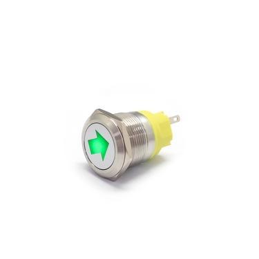 12V 22mm Interruptor de Botão Interruptor de Metal Painel de Controle Símbolo Personalizado Para Universal Motors Yacht Steamer
