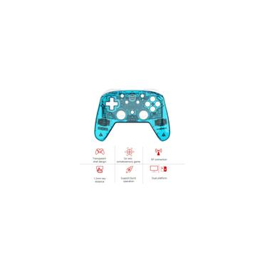 Wireless Switch Pro Controller para Nintendo interruptor e Switch Lite Built-in de seis eixos giroscópio Turbo dupla vibração bt Connection Azul