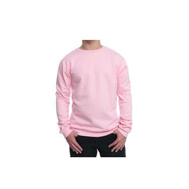 Moletom Blusão Unissex Liso Barato Inverno Jaqueta De Frio Rosa
