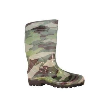 Galocha Bota Militar Camuflada Borracha PVC