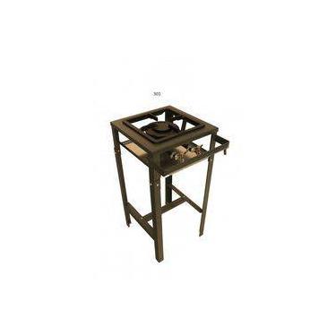 Fogão Industrial 1 Boca - Alta Pressão - 40x40 - Canto Cozinha - Metal Brey