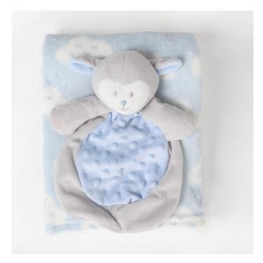 Manta Infantil Naninha Ovelhinha - Azul