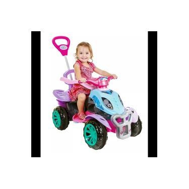 Quadriciclo De Passeio e Pedal Infantil Com Empurrador Criança - Ice Frost - Maral -
