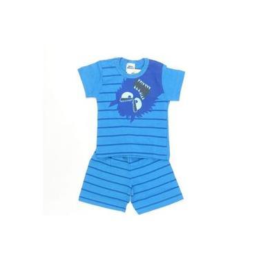Pijama Monster Azul - Bicho Bagunça