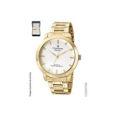 627f4f8ac94 Relógio Feminino Dourado Champion Analógico Social Cn29276b + Kit
