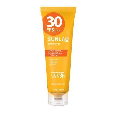 Protetor Solar Sunlau Fps 30 Com Vitamina E 120g REF.  022050 79c46f7378cc5