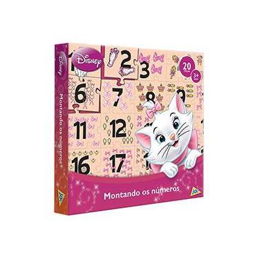 Imagem de Quebra-Cabeça Gata Marie Montando os Números 1 a 20 - Jak