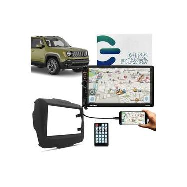 Central Multimídia Jeep Renegade 2015 a 2020 e PCD 2 Din BT Espelhamento Android Iphone Shutt Miami