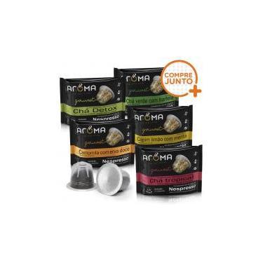 Kit Cápsulas de Chá Aroma - Compatíveis com Nespresso - 50 un. Aroma selezione