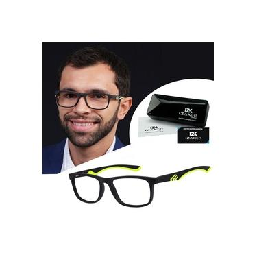 Imagem de Armação Para Grau Óculos Masculino Retangular Izaker Preto 1037