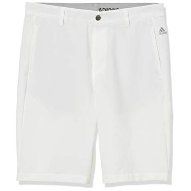 Bermuda Adidas Ultimate+ 3 listras, Branco, 30