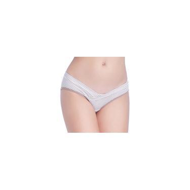 Calcinha feminina de cintura baixa respirável triangular grávida em forma de V