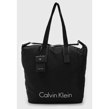 Bolsa Calvin Klein Logo Preta Calvin Klein K60K603843 feminino