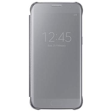 Original Capa Clear View Samsung Galaxy S7 Flat Sm-g930 Cor:Prata