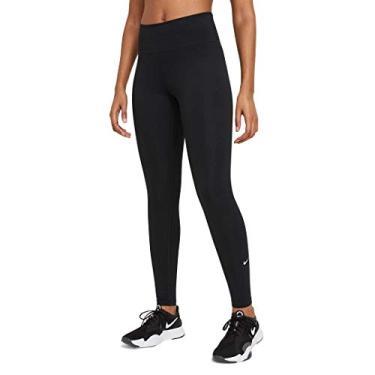 Imagem de Nike Calça legging feminina Dri-FIT One Dd0252-010, Preto/branco, XL