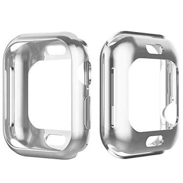 Capa Lisa Para Apple Watch Series 1 2 3 4 tamanho 42mm prata