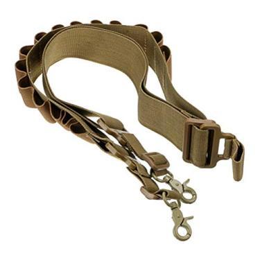 WINOMO Cinto de treino de caça de ajuste de nylon para caminhada Cinto de cintura Acessórios para cinto Clipe de cartucho com gancho (cáqui) ligar