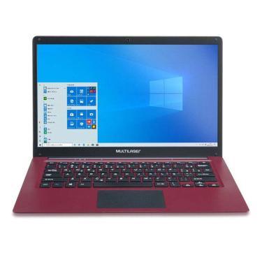 Imagem de Notebook Multilaser Legacy C14' Pc132 2Gb/32Gb/Atom/Win Vermelho