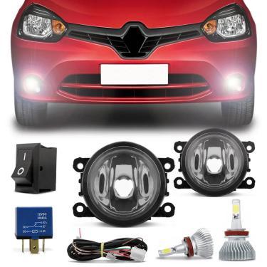 Kit Farol de Milha Renault Clio 2013 a 2016 + Super LED Headlight H11 6000k