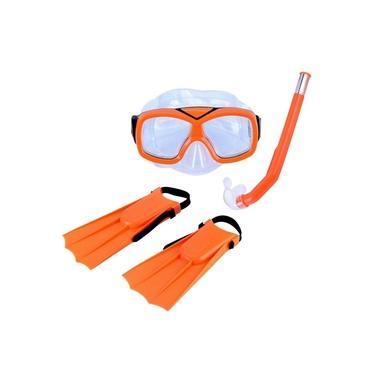 Kit Infantil de Mergulho e Snorkel Laranja Diver Nautika