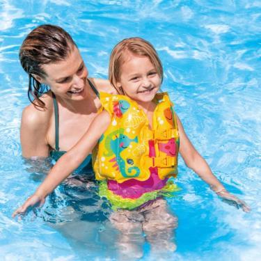 Boia Colete Infantil Peixinhos Amarelo 59661 Intex