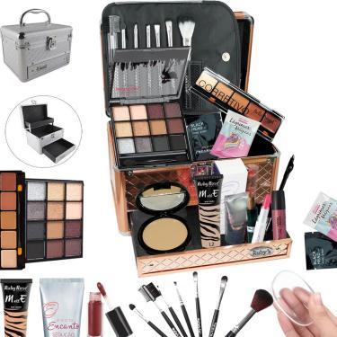 Imagem de Maleta Completa Com Maquiagem Ruby Rose Luisance + Cortesia Da Loja - Bz19