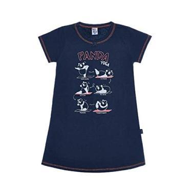 Camisola Infantil Menina Panda Yoga Pulla Bulla Ref. 42709 Cor:Azul Marinho;Tamanho:4